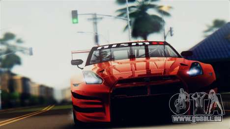 Nissan GT-R (R35) GT3 2012 PJ5 für GTA San Andreas rechten Ansicht