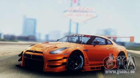 Nissan GT-R (R35) GT3 2012 PJ5 pour GTA San Andreas