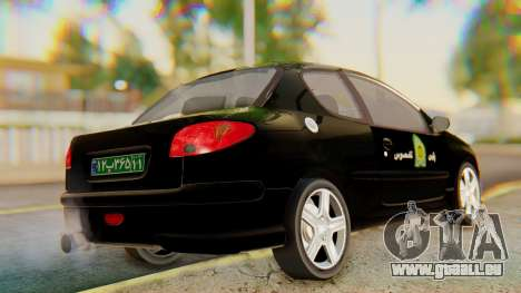 Peugeot 206 Coupe Police für GTA San Andreas linke Ansicht