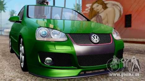 Volkswagen Golf Mk5 GTi Tunable PJ pour GTA San Andreas vue intérieure