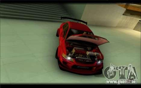Mitsubishi Lancer Evolution IX Street Edition für GTA San Andreas zurück linke Ansicht