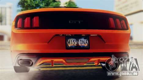 Ford Mustang GT 2015 Stock Tunable v1.0 für GTA San Andreas Motor