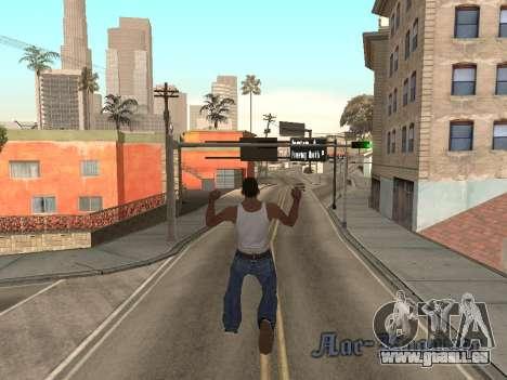 Back Flip pour GTA San Andreas deuxième écran