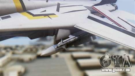 F-14D Tomcat Macross Yellow & Black pour GTA San Andreas vue de droite