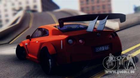 Nissan GT-R R35 LW für GTA San Andreas linke Ansicht