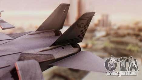 F-14A Tomcat VFA-211 Fighting Checkmates für GTA San Andreas zurück linke Ansicht