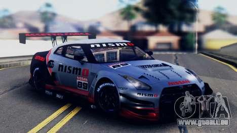 Nissan GT-R (R35) GT3 2012 PJ5 pour GTA San Andreas vue de dessus