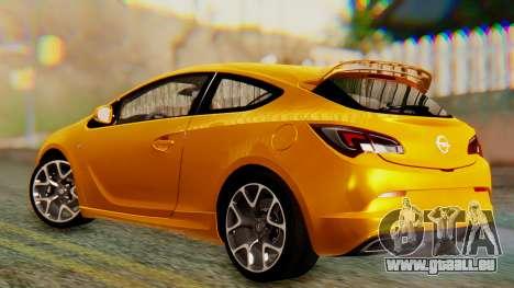Opel Astra J OPC für GTA San Andreas zurück linke Ansicht