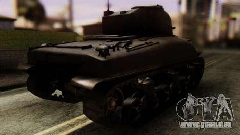 M4 Sherman v1.1 pour GTA San Andreas laissé vue