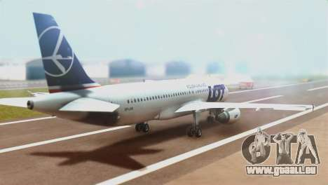 LOT Polish Airlines Airbus A320-200 (New Livery) für GTA San Andreas linke Ansicht