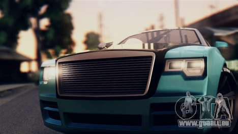 GTA 5 Enus Windsor pour GTA San Andreas sur la vue arrière gauche