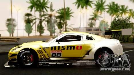 Nissan GT-R (R35) GT3 2012 PJ4 pour GTA San Andreas vue de côté