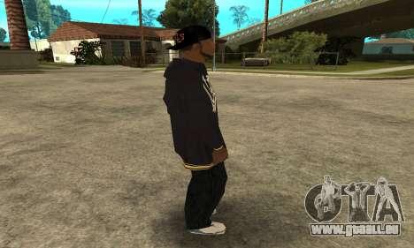 Groove Skin pour GTA San Andreas quatrième écran