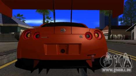 Nissan GT-R (R35) GT3 2012 PJ5 pour GTA San Andreas vue de côté