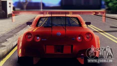 Nissan GT-R (R35) GT3 2012 PJ5 pour GTA San Andreas vue arrière