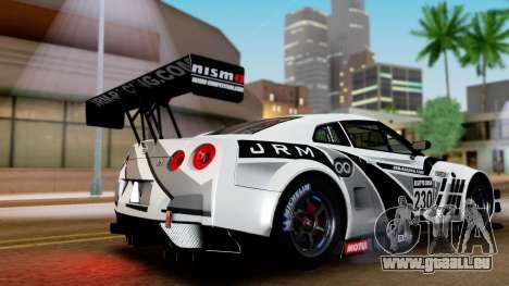 Nissan GT-R (R35) GT3 2012 PJ4 für GTA San Andreas