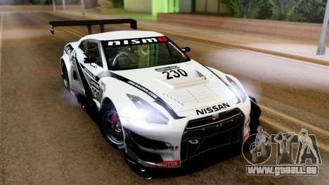 Nissan GT-R (R35) GT3 2012 PJ4 pour GTA San Andreas laissé vue