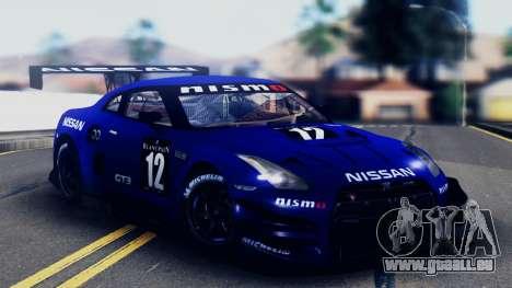 Nissan GT-R (R35) GT3 2012 PJ5 pour GTA San Andreas moteur