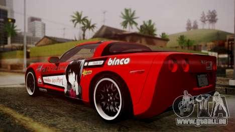Chevrolet Corvette Z51 Another Itasha pour GTA San Andreas laissé vue
