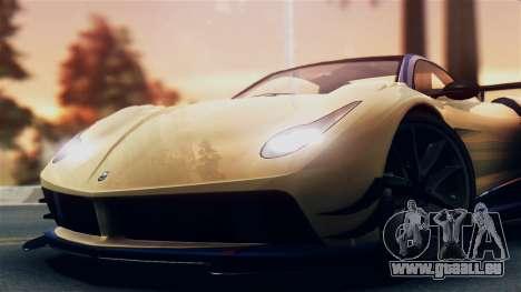 Pegassi Osiris from GTA 5 IVF pour GTA San Andreas sur la vue arrière gauche