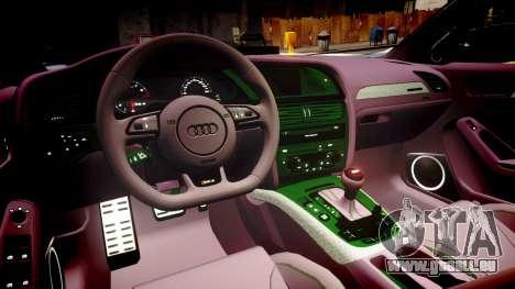 Audi S4 Avant Unmarked Police [ELS] für GTA 4 Innenansicht