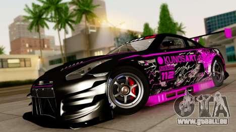 Nissan GT-R (R35) GT3 2012 PJ4 pour GTA San Andreas sur la vue arrière gauche