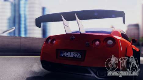 Nissan GT-R R35 LW für GTA San Andreas rechten Ansicht