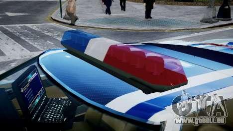 Bullet Police Car für GTA 4 Rückansicht