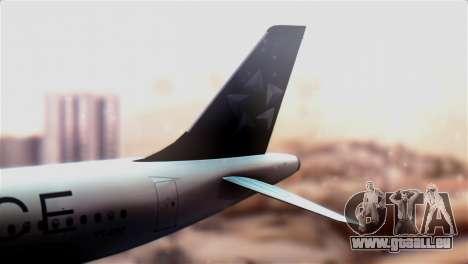 LOT Polish Airlines Airbus A320-200 für GTA San Andreas zurück linke Ansicht