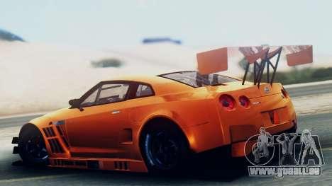 Nissan GT-R (R35) GT3 2012 PJ5 pour GTA San Andreas laissé vue