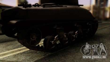 M4 Sherman v1.1 pour GTA San Andreas sur la vue arrière gauche