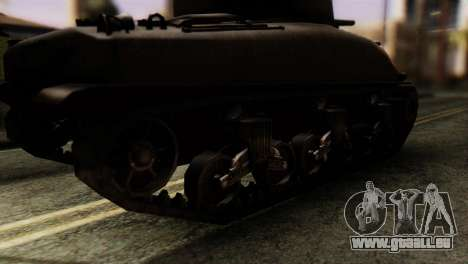 M4 Sherman v1.1 für GTA San Andreas zurück linke Ansicht