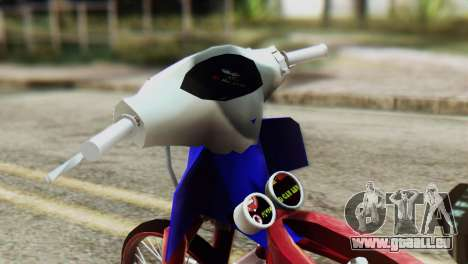 Dream 110 cc of Thailand pour GTA San Andreas sur la vue arrière gauche