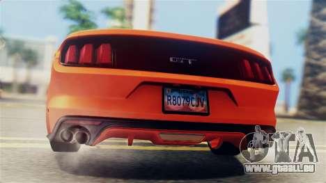 Ford Mustang GT 2015 Stock Tunable v1.0 pour GTA San Andreas vue de côté