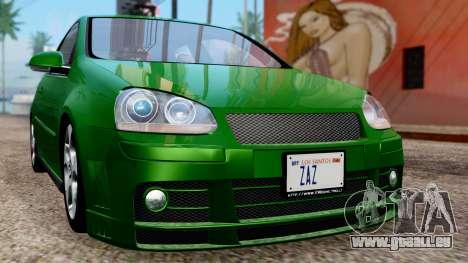 Volkswagen Golf Mk5 GTi Tunable PJ pour GTA San Andreas vue de côté