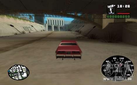 Indicateur de vitesse de VAZ 2105 pour GTA San Andreas deuxième écran