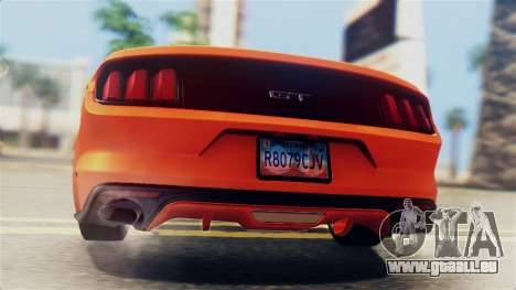 Ford Mustang GT 2015 Stock Tunable v1.0 pour GTA San Andreas vue de dessus