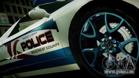 Bullet Police Car für GTA 4 hinten links Ansicht