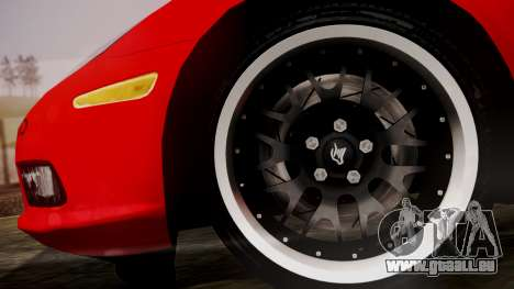 Chevrolet Corvette Z51 Another Itasha pour GTA San Andreas sur la vue arrière gauche