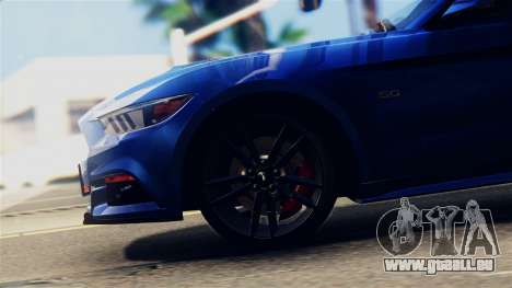 Ford Mustang GT 2015 Stock Tunable v1.0 pour GTA San Andreas vue arrière