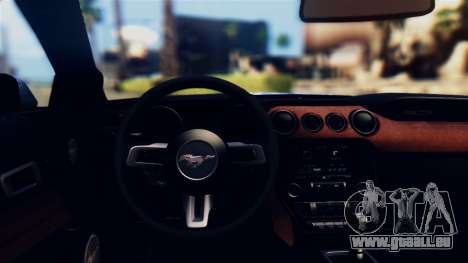 Ford Mustang GT 2015 Stock Tunable v1.0 pour GTA San Andreas vue intérieure