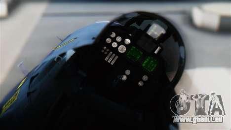 F-14J Super Tomcat JASDF für GTA San Andreas Rückansicht