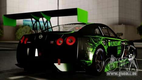 Nissan GT-R (R35) GT3 2012 PJ4 pour GTA San Andreas vue intérieure