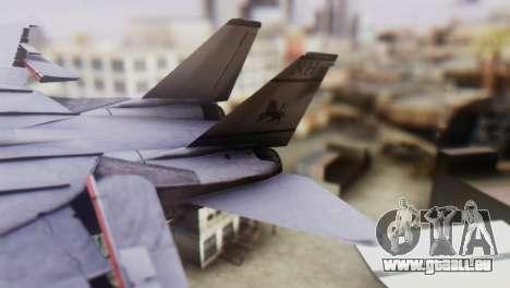 F-14A Tomcat VF-33 Starfighters pour GTA San Andreas sur la vue arrière gauche