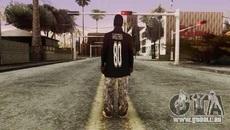New Ballas Skin für GTA San Andreas dritten Screenshot