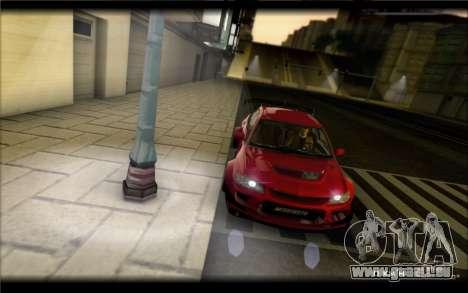 Mitsubishi Lancer Evolution IX Street Edition pour GTA San Andreas laissé vue