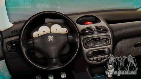 Peugeot 206 Coupe Police für GTA San Andreas Rückansicht