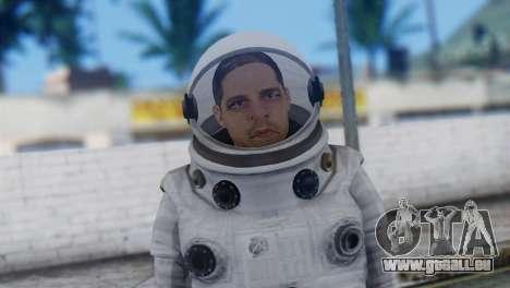 Astronaut Skin from GTA 5 pour GTA San Andreas troisième écran