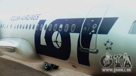 LOT Polish Airlines Airbus A320-200 (New Livery) für GTA San Andreas Rückansicht