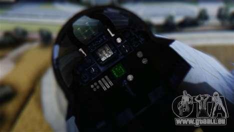 F-14A Tomcat VF-111 Sundowners Low Visibility pour GTA San Andreas vue arrière